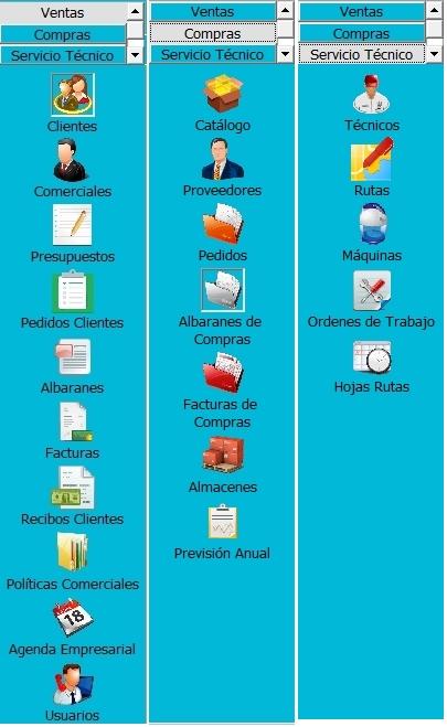 menu vertical completo
