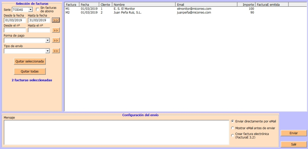 MailingDeFacturasYFacturaE